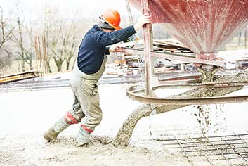 man working a concrete