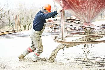 man working a concrete